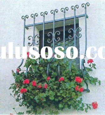 WH-140D 2011 hand forged modern wrought iron window