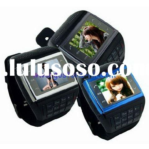 Watch Mobile Phone Compass Quad Band Cell Phone V6