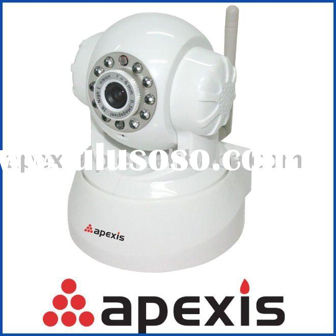 Wireless indoor IP camera support Gmail with Iphone APP