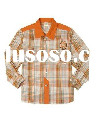 checked fabric casual boys Shirts