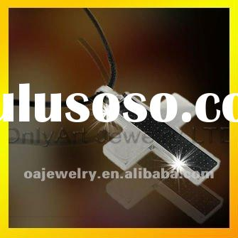 high quality fashion design jewelry cross pendant with carbon fiber paypal accepted