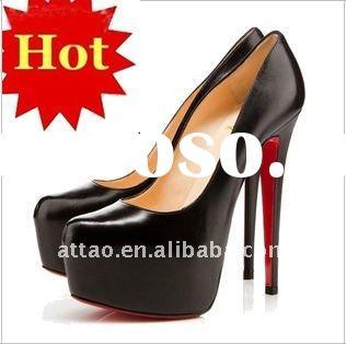 larger size /2012 Fashion Black Platform High Heels Women Shoes
