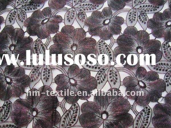 luxurious 3D floral design organza emboridery fabric for wedding and evening dress