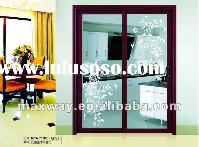 new luxury aluminum sliding hanging door design for villa