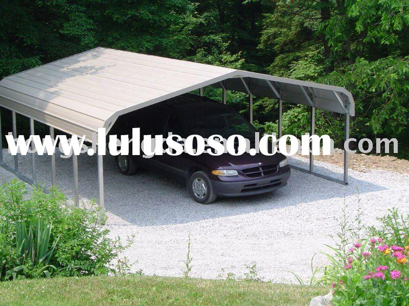 prefabricated mobile light steel structure carport/garages/canopies
