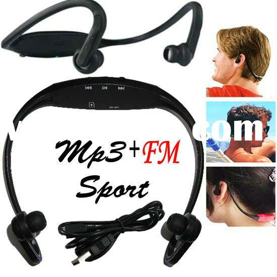 sport mp3 headphone with fm radio enjoy the music any time