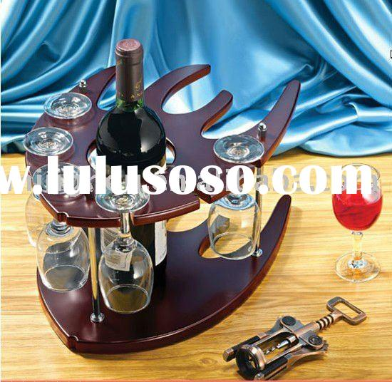 wine rack glass with wine holder