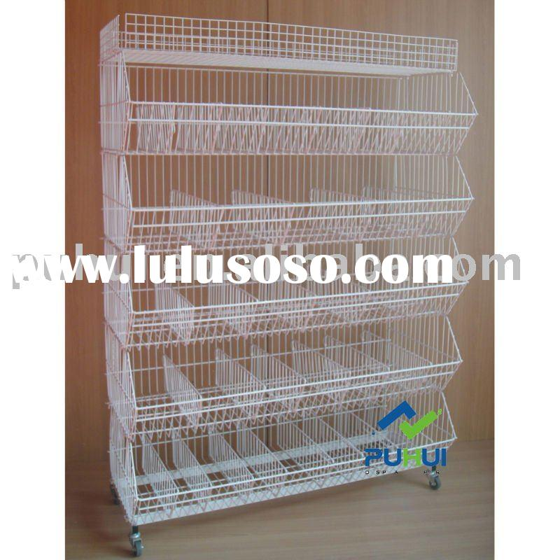 wire and metal heavy duty store stand