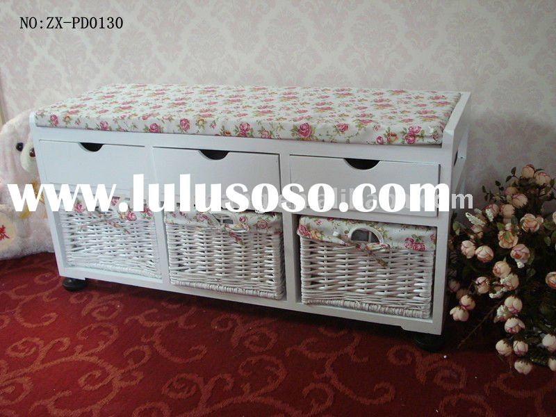 wooden shoes storage cabinet design with drawers