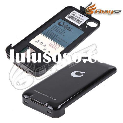 PY- Dual SIM Card Dual Standby WCDMA/GSM Backup Battery Case Cover For iPhone 4G LF-0455
