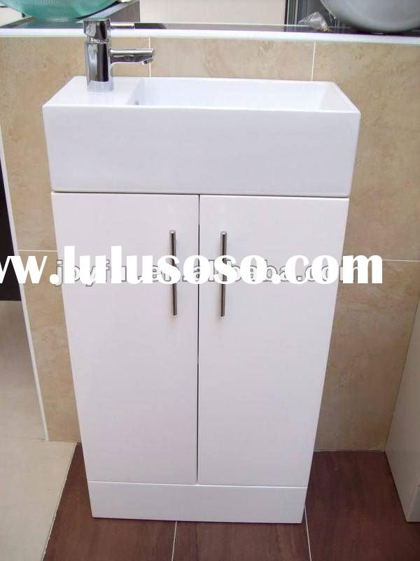 UK high gloss white bathroom vanity unit TM402