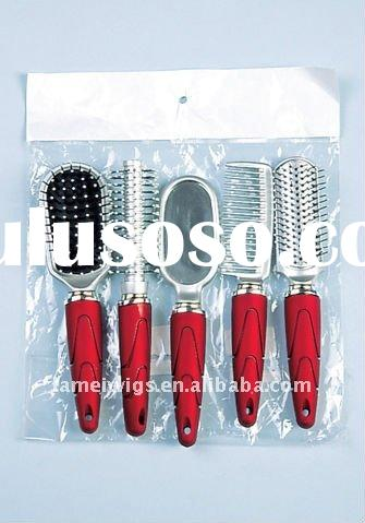 hair brush/comb set with mirror
