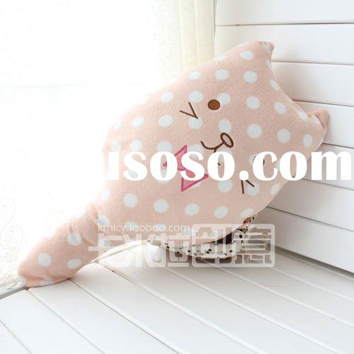 lollipop cat polka dot cat neck roll pillow cushion
