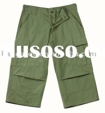 100%cotton olive green military short pant /military uniform/army pants