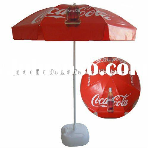 180cm Coca-cola full color printing promotional PVC parasol beach umbrella