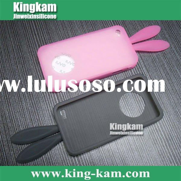 2011 Hot lucky rabbit silicone case for iphone 4