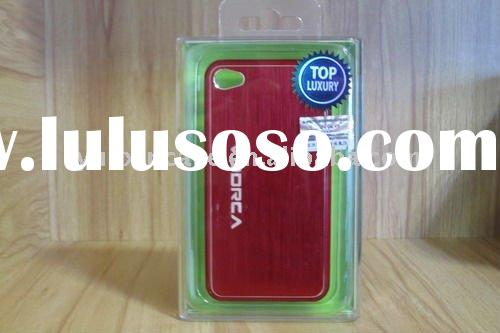 2011 Hot selling Fashion aluminum + PC mobile phone case for Iphone 4g in red
