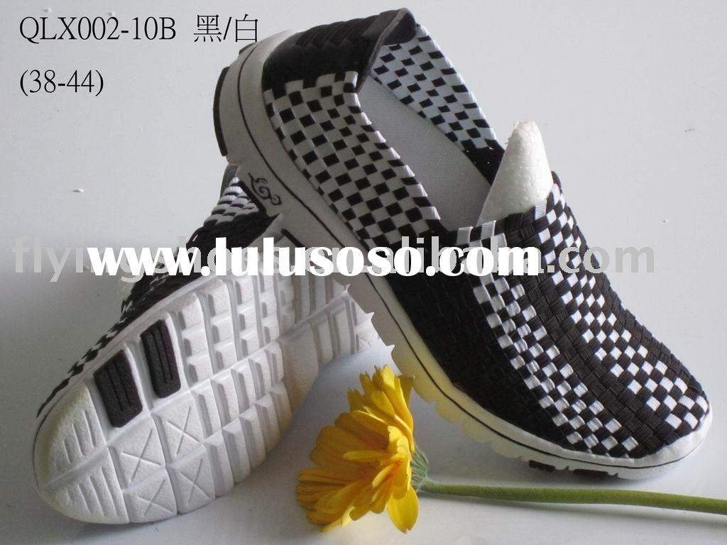 2011 new fashion style leisure shoes sport shoes woven shoes