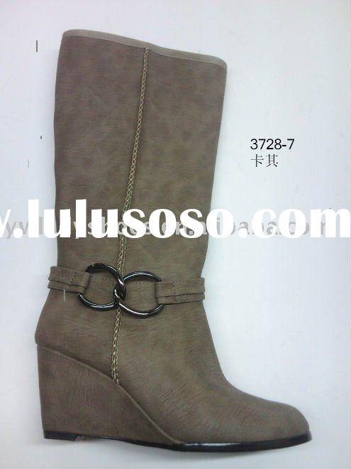 2012 2013 fashion lady tall wedge boots