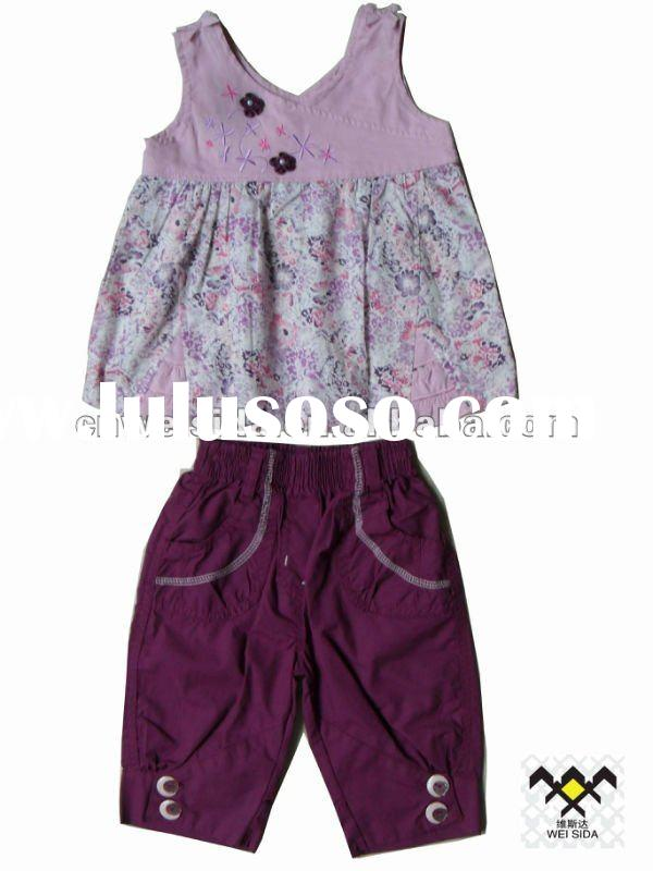2012 Newest Western style summer suits girls clothing