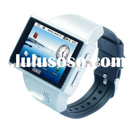 2012 latest android 2.2 OS watch mobile phone with GPS WIFI 2.0 Flytouch capacitive screen