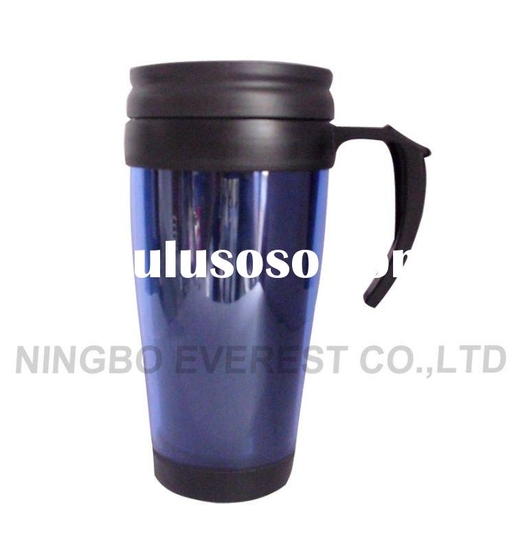 400ml, 0.4L Double Wall Plastic Mug with Handle