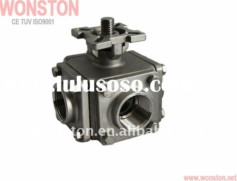 4 way valves/4-Way Stainless Steel Ball Valve