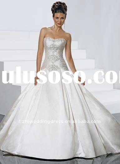 Affordable 2012 Hot Sale Strapless Beaded Embroidery Bella Wedding Dress and Jacket/bolero MS460