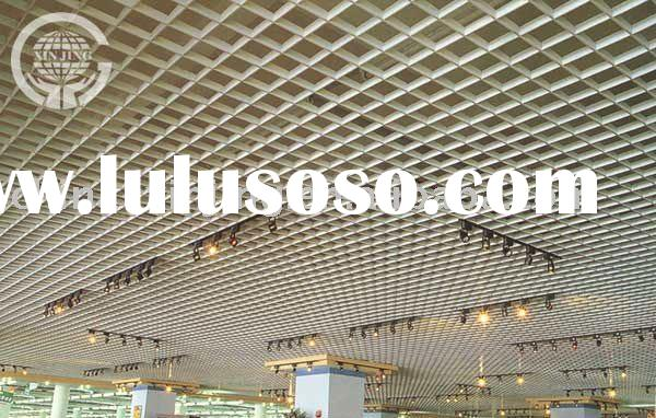 Aluminium suspended ceiling metalic grid tiles