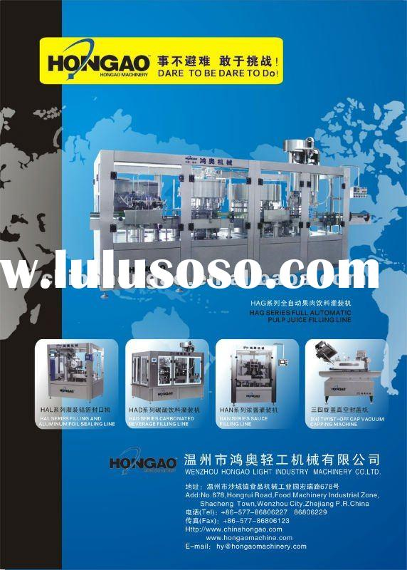 Automatic bottle of sauce yogurt tomato paste juice beverage water washing filling sealing machine