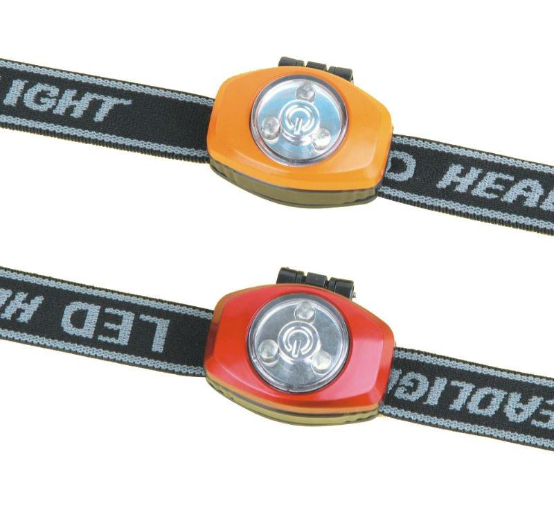 CR 2032 Button battery LED headlamp 0.3W