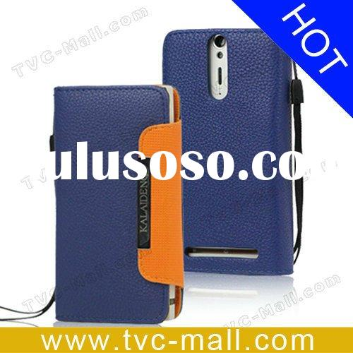Cellphone Accessories Wallet Leather Case for Sony Xperia S LT26i LT26a