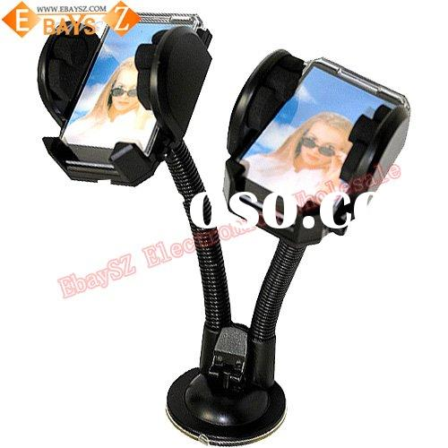 Dual Universal Car Mount Holder Mobile Phone PDA GPS