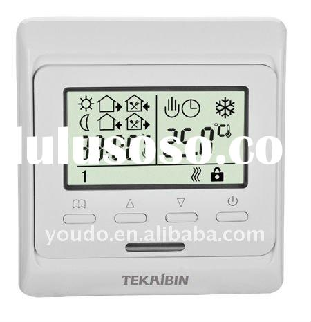 E51.713 digital water heater thermostat( 3A, with key-lockfunction, weekly programming, built-in&