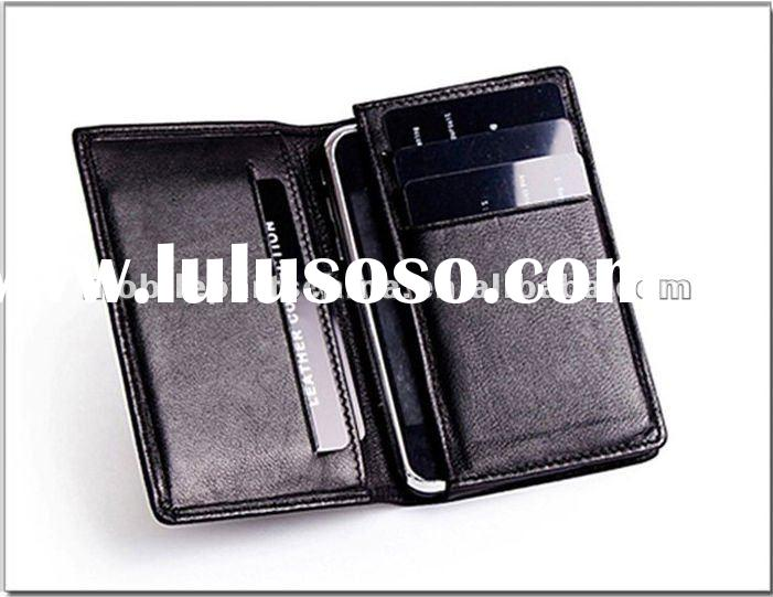Free Shipping Wholesale - Cell Phone Accessories/Wallet Case for Iphone 4