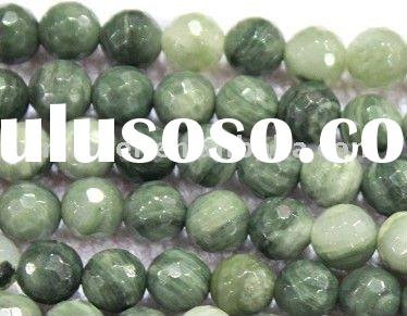 Green Rutilated Quartz Round Gemstone Beads Jewelry