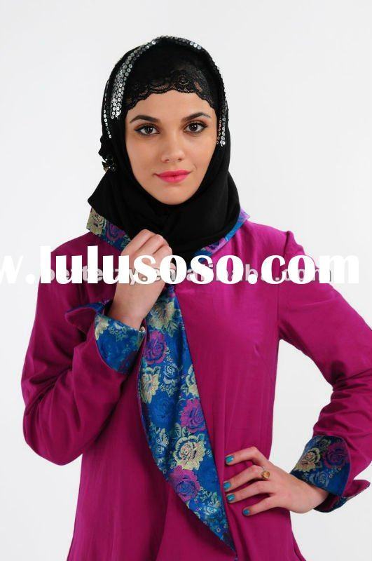 KJ-WF1173 High quality abaya jilbab islamic clothing for women, Fashion Abaya 2012, 100% cotton full