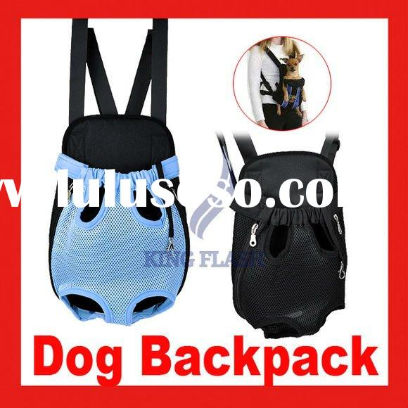 Nylon Pet Dog Carrier Legs Out Front Style Backpack Net Bag-Any Black Wholesale size S