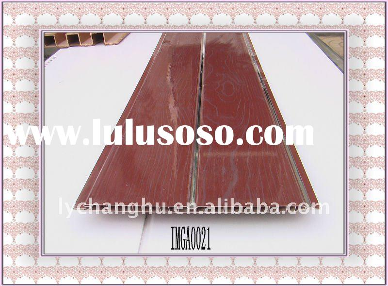 Popular dark RED color PVC ceiling panels for African markets