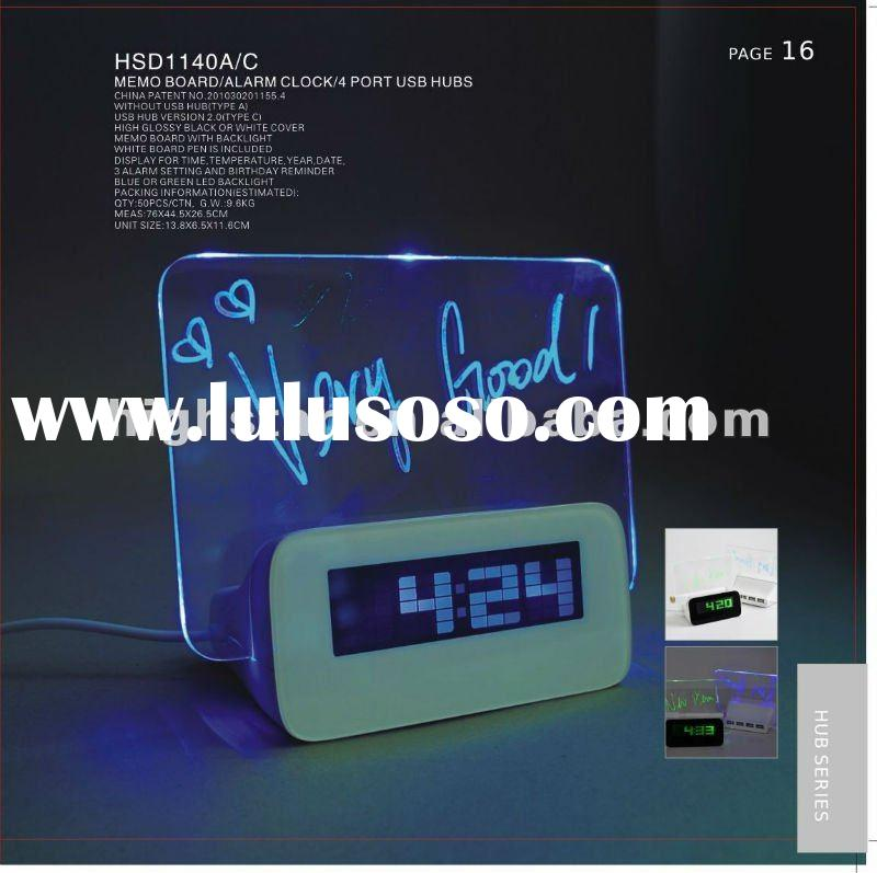 Pretty Digital Alarm Clock with Memo Board and Highlighter