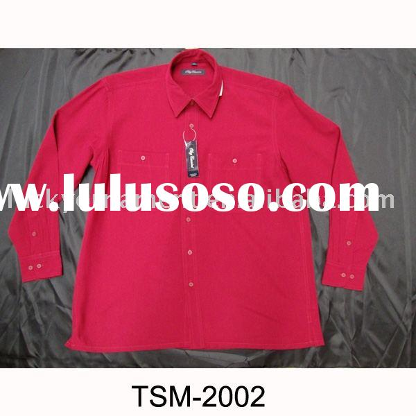 Stock shirts/overstock men's shirts/USA stocklots/overrun men's apparels(TSM-2002)