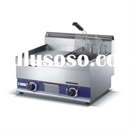 TT-WE1392 Counter top Gas Griddle and Fryer