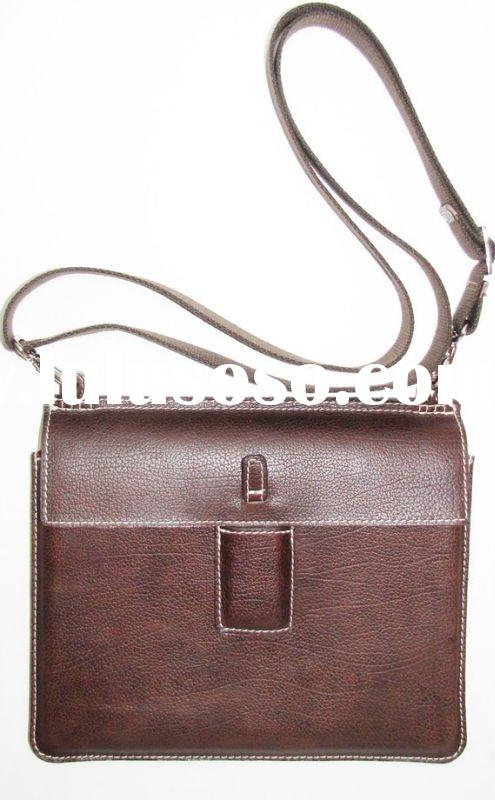 Versatile Case / Sleeve with Strap in Vintage Mahogany/Leather Lining/real leather sleeve for case