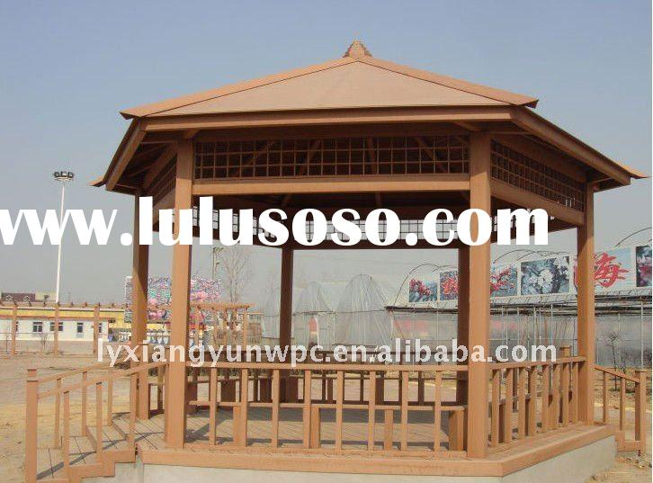 Waterproof and easy to install wood plastic composite pergola
