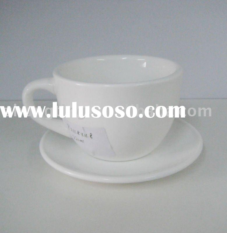 White Porcelain Coffee Cup and Saucer