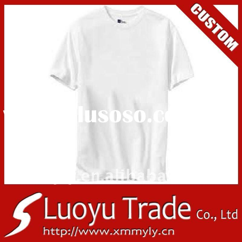 Wholesale 2011 Newest Design Fashion Cheap White Blank Cotton t-shirt