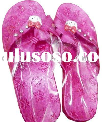 Wholesale gao Hello Kitty Beach Slippers shoes flip flops For Kids F0152