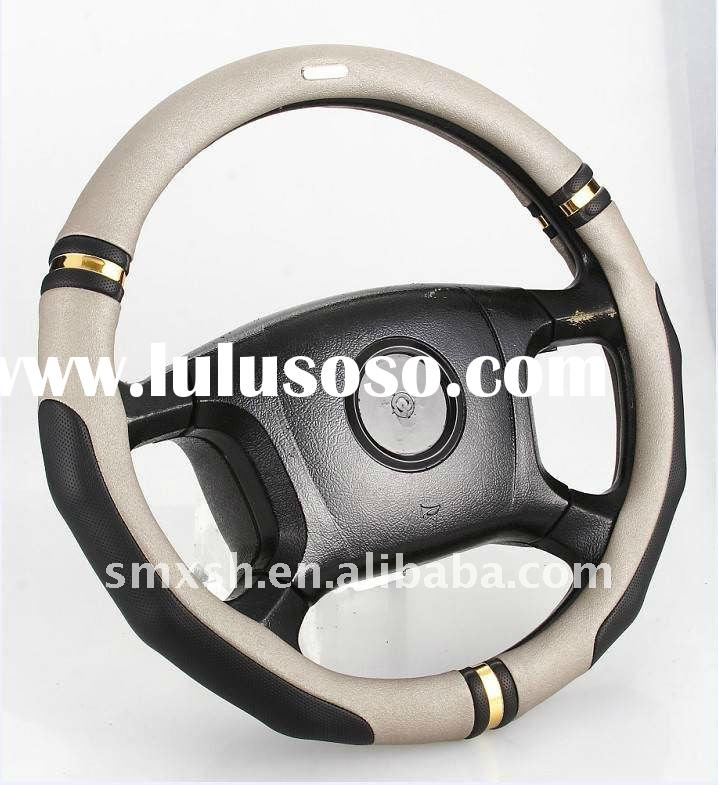 car accessories flexible pu material steering wheel cover for business cars
