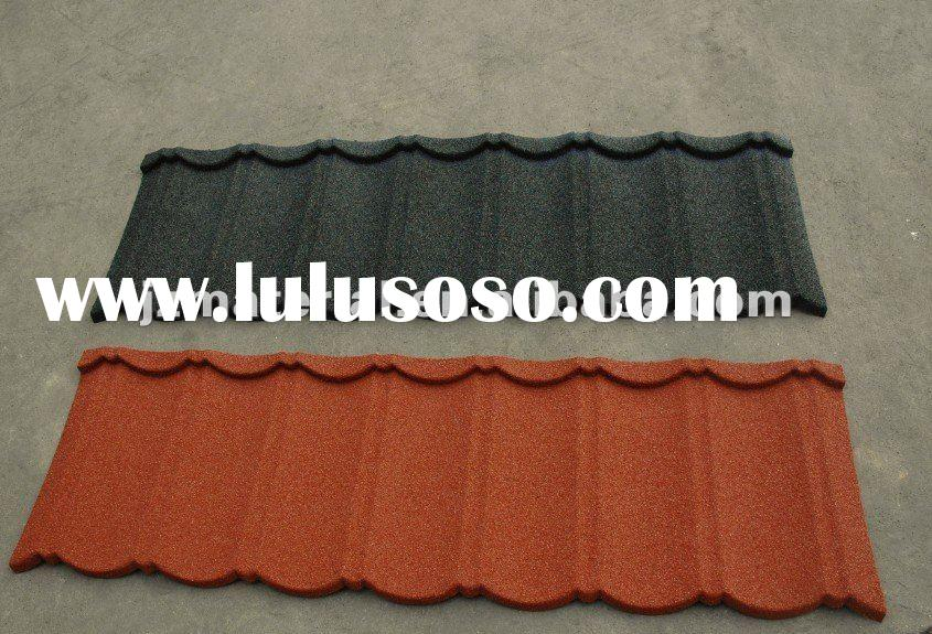 classic stone coated metal roof tile sheet/corrugated stone roofing tile sheet 1400mm