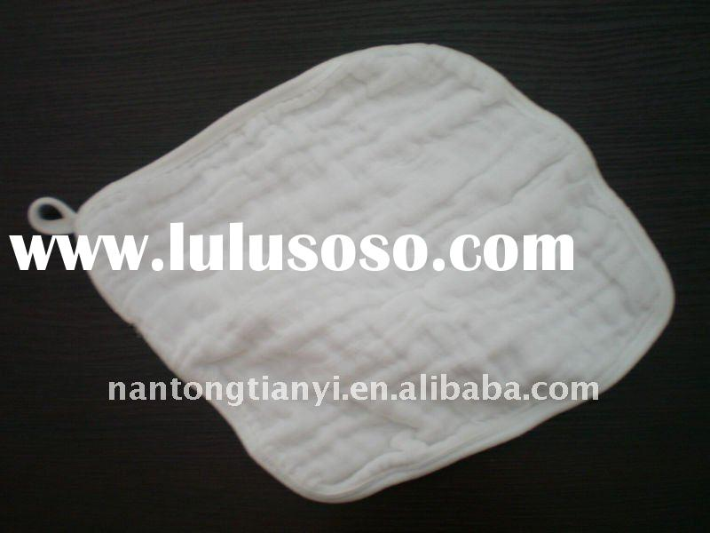 cotton muslin wash cloth in natural color